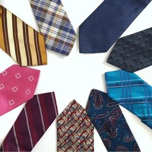 Mixed Bundle of Men's Neck Ties Silk  9 Count